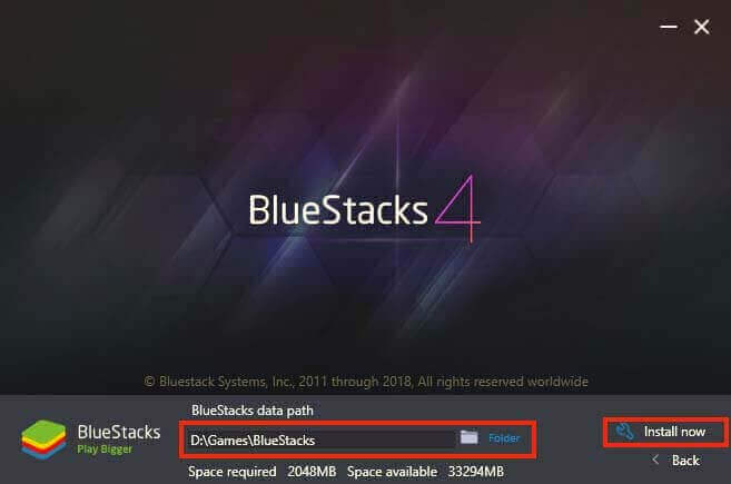 Installation of BlueStacks